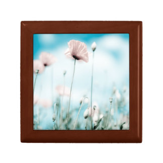 Poppy Flowers Small Square Gift Box