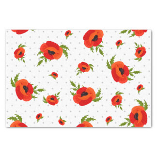 Poppy Flowers Tissue Paper