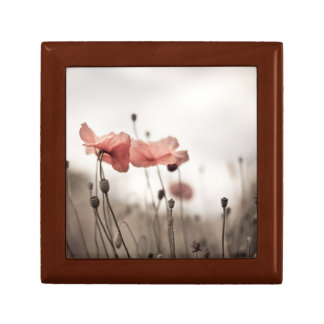Poppy Flowers Trinket Box
