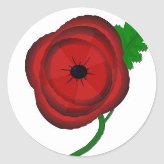 Poppy for Remembrance - sticker