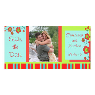 Poppy Fun Save the Date Custom Card
