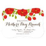 Poppy Garden Floral Mother's Day Brunch Invitation 13 Cm X 18 Cm Invitation Card
