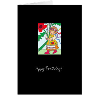 Poppy Girl Happy Birthday! Card