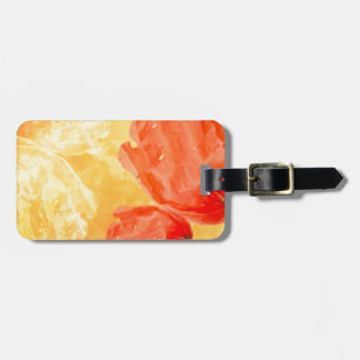 Poppy gloss luggage tag