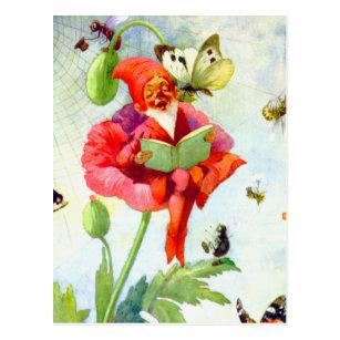 Creative Luggage Tag Butterfly,Retro Style Poppy Flowers Animal Cartoon