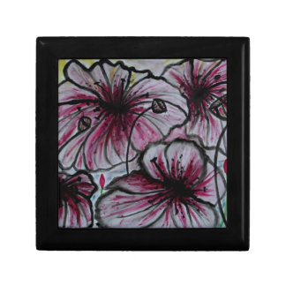 Poppy Heads Small Square Gift Box