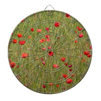 poppy in spring dartboard