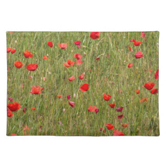 poppy in spring placemat