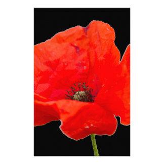 poppy in the garden stationery