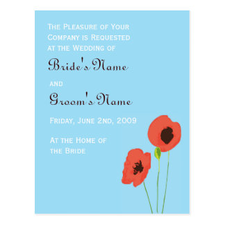 Poppy Invitation Post Card