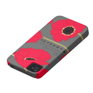 Poppy iPhone 4 Case-Mate Cases