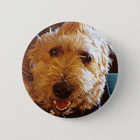 Poppy Labradoodle Mutt Dog Pin