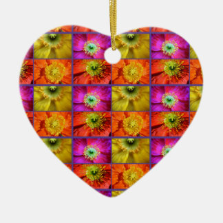 Poppy Love Ceramic Heart Decoration
