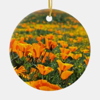 Poppy macro  flowers ornament