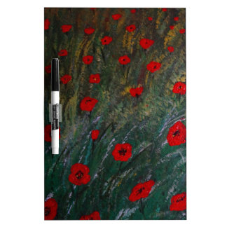 Poppy meadow dry erase board