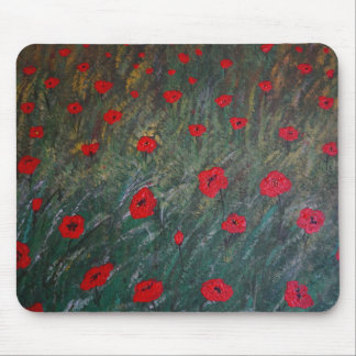 Poppy meadow mouse mat