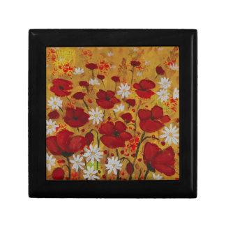 Poppy Meadow, Red Flowers Trinket Box