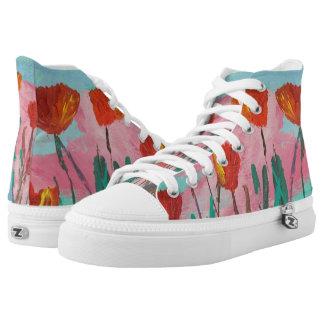 Poppy Mirth Hi Top Printed Shoes