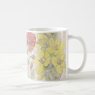 Poppy Mullein Wildflower Flowers Meadow Mug