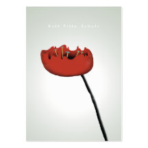 Poppy nature moonlight red elegant business card