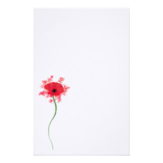 Poppy notepaper stationery