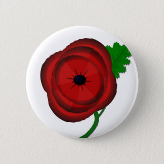 Poppy on white - badge