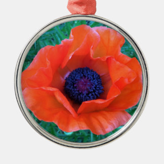 POPPY Oriental Red Orange --- Christmas Ornament
