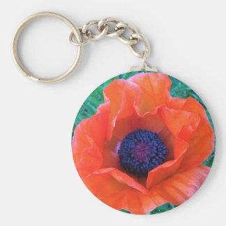 POPPY Oriental Red Orange --- Key Ring