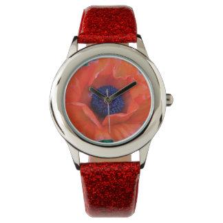 POPPY Oriental Red Orange --- Watch