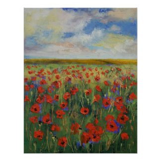 Poppy Painting Print