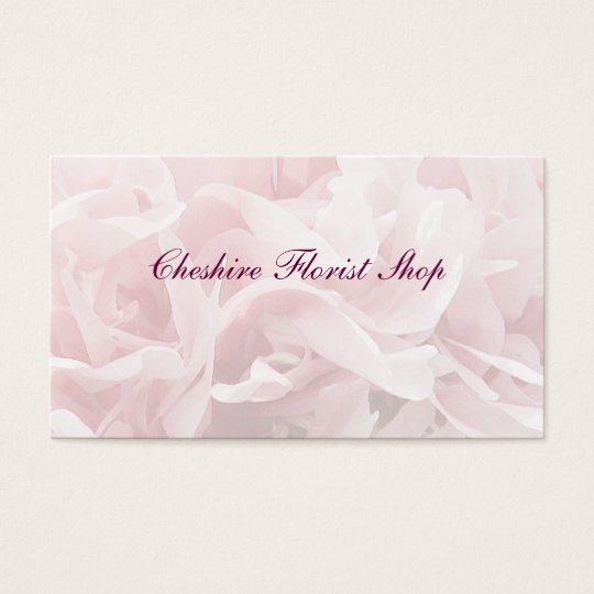 Poppy Petals Florist Business Card