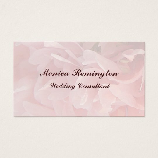 Poppy Petals Wedding Consultant Business Card