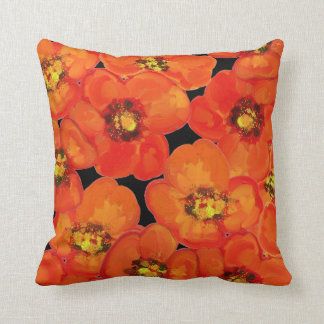 Poppy,poppies,floral cushion