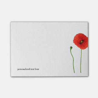 POPPY POST-IT NOTES
