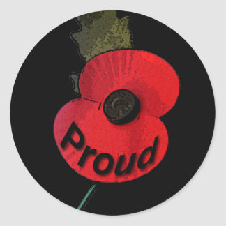 Poppy Proud.png Round Sticker