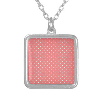 Poppy Red And White Polka Dots Design Pendant