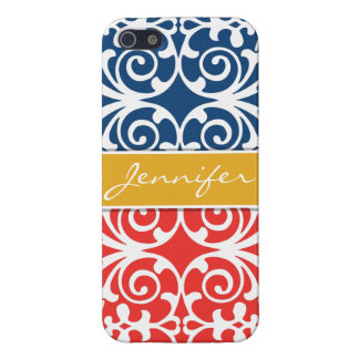 Poppy Red & Blue Trendy personalized iPhone 5 iPhone 5 Case