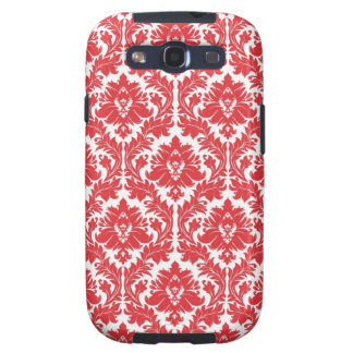 Poppy Red Damask pattern Galaxy S3 Cover