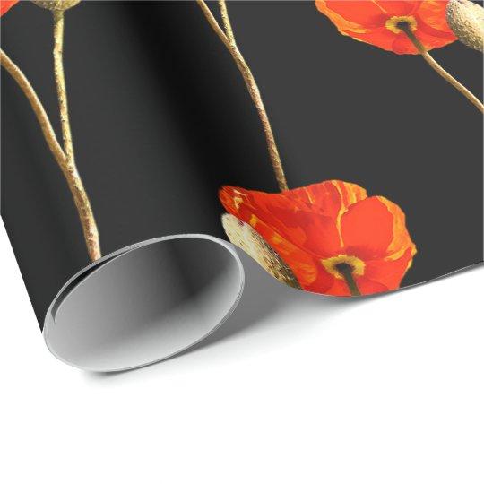Poppy Red Flower Orange Glam Black Glam Delicate