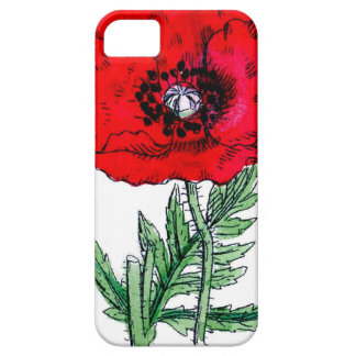 poppy red flowers victorian blossoms iPhone 5 covers