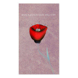 POPPY RED PACK OF STANDARD BUSINESS CARDS