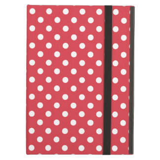 Poppy Red Polka Dot Pattern Cover For iPad Air
