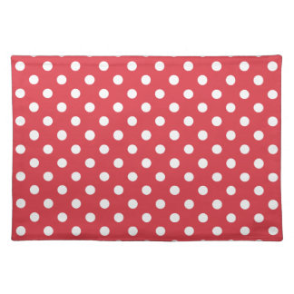 Poppy Red Polka Dot Place Mat Placemat