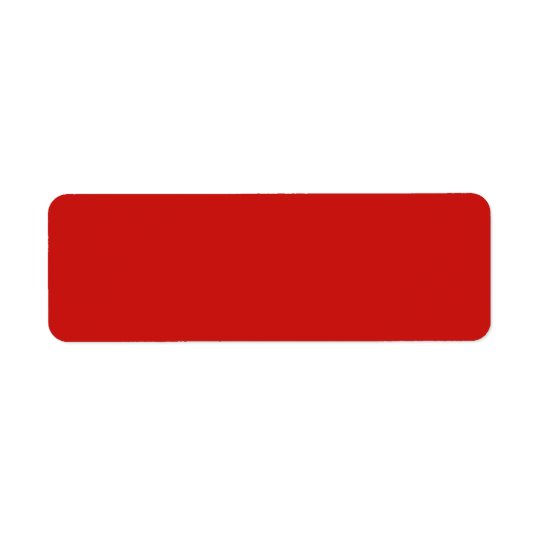 Poppy Red Trend Colour Customised Template Blank Return Address Label