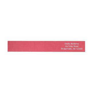 Poppy Red Upscale Monochromatic Wraparound Return Address Label