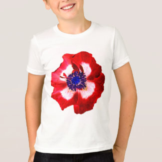 Poppy Red White Blue kids ringer t-shirt