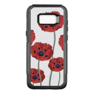Poppy red white OtterBox commuter samsung galaxy s8+ case