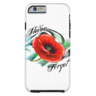 poppy rememberance day, memorial, November 11 Tough iPhone 6 Case
