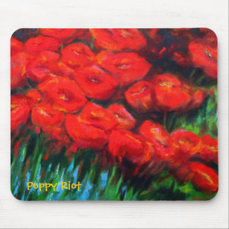 Poppy Riot Mouse Mat