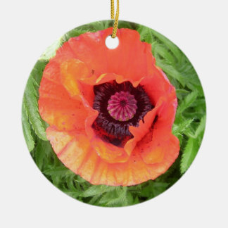 Poppy Round Ceramic Decoration